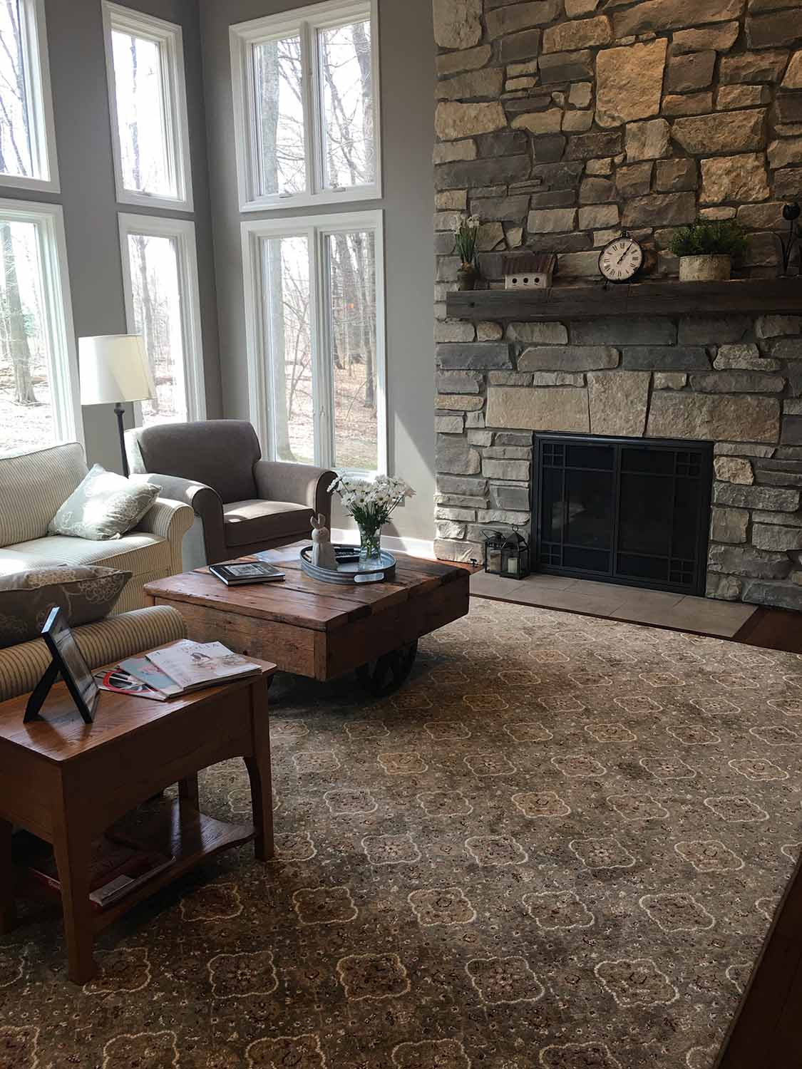 Refresh Design Country Pines project living room view