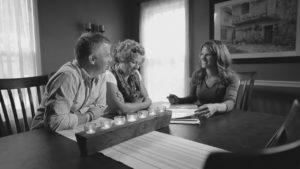 Refresh Design Consultation Assessment sitting table smiling interior design